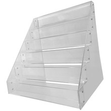 Removable Organizer Storage 6 Tiers Rack Acrylic Clear Nail Polish Cosmetic Varnish Display Stand Holder Manicure Tool 1 pcs 6 tiers removable nail polish shelf acrylic clear cosmetic varnish display stand rack holder women makeup organizer case