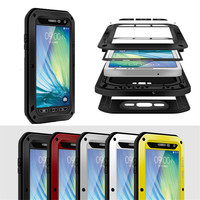 LOVE MEI For Samsung Galaxy A7 Extreme Powerful Waterproof Metal Case With Gorilla Tempered Glass Screen