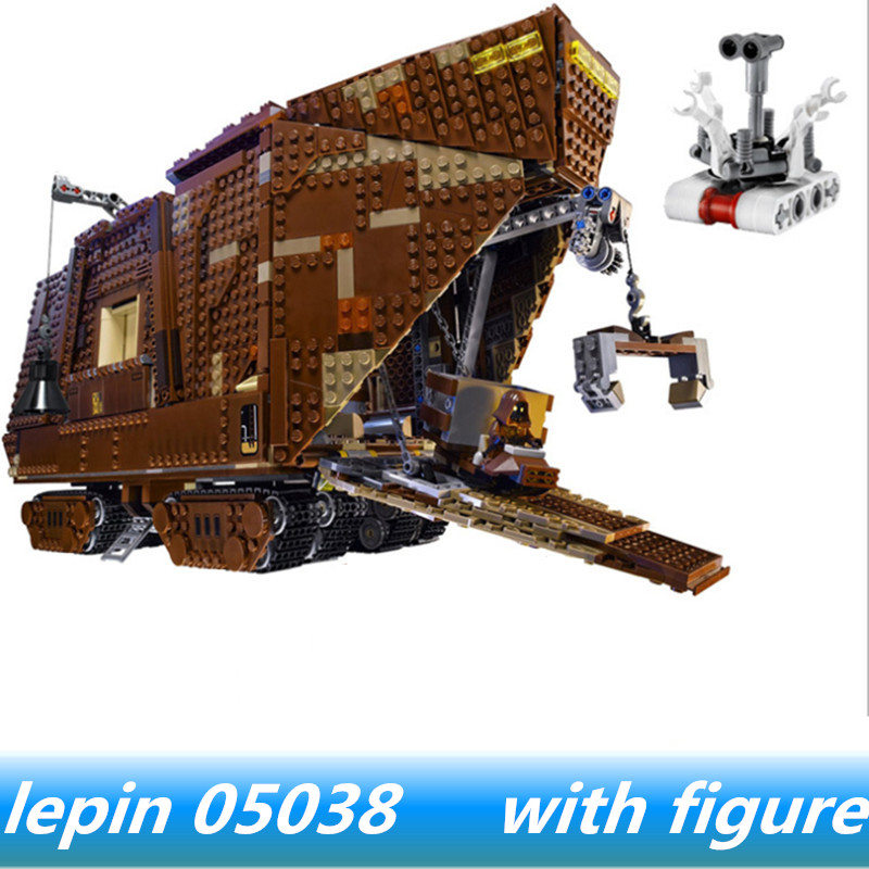 Lepin 05038 lepin Star Wars Force Awakens Sandcrawler Compatible legoing star wars Sandcrawler Legoing 75059 Building Blocks lepin 05038 star wars episode iv sandcrawler similar with 75059 buliding kit