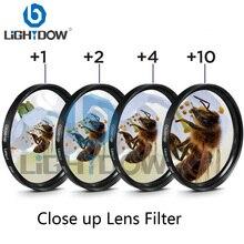 Lightdow макрофильтр для объектива+ 1+ 2+ 4+ 10 Комплект фильтров 49 мм 52 мм 55 мм 58 мм 62 мм 67 мм 72 мм 77 мм для камер Canon Nikon sony