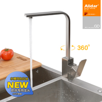 Stainless Steel Kitchen Faucet Hot And Cold Wash Dishes Factory Outlets Square Rotary Double Sink