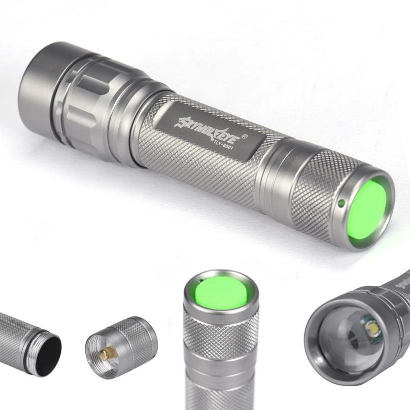 Pocket Size Zoomable 3 Modes 7000 Lumen XPE Q5 Led Flashlight for Camping MT
