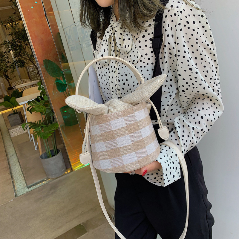 Female Crossbody Tote Bags For Women 2019 Quality Canvas Luxury Handbags Designer Sac A Main Ladies Plaid Shoulder Messenger Bag in Top Handle Bags from Luggage Bags