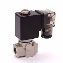 """SPU-03/04/05/06 stainless steel SS304 water solenoid valve normally close Port G1/4"""" with plastic sealing coil"""