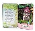 DIY De Madeira casa de Bonecas Em Miniatura Modelo Kit -- castelo Romântico Modelo com Luz/bonecas do Urso