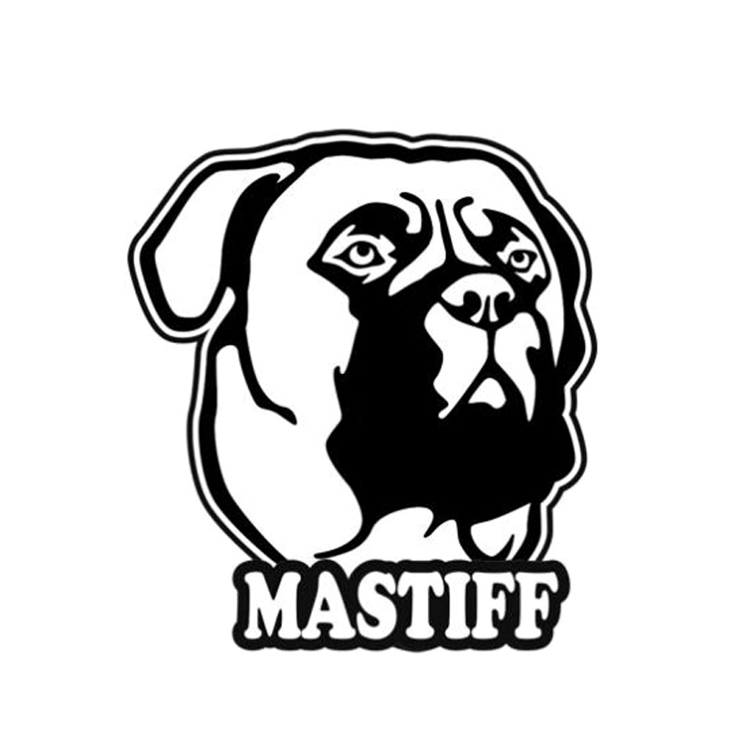 9 1cm10 1cm Mastiff Dog Animal Vinyl Car Styling Car Sticker S4