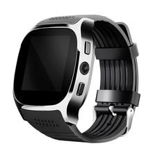 2017 T8 Apoyo Reloj Inteligente Bluetooth SIM y TFcard, 2.0MP Camery Notificador de conexión Bluetooth Sync para Android Smart Phone