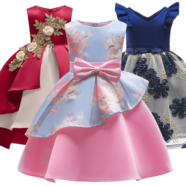 43f899a1b183 2019 Summer Toddler Girls Easter Dress Princess Dress Girl Clothing Party  Wedding Kids Dresses For Girls