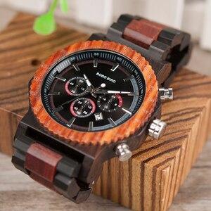 Image 5 - 51mm Big Size Men Watch BOBO BIRD relogio masculino Wooden Quartz Top Luxury Watches for Dad Gift reloj mujer Accept Logo