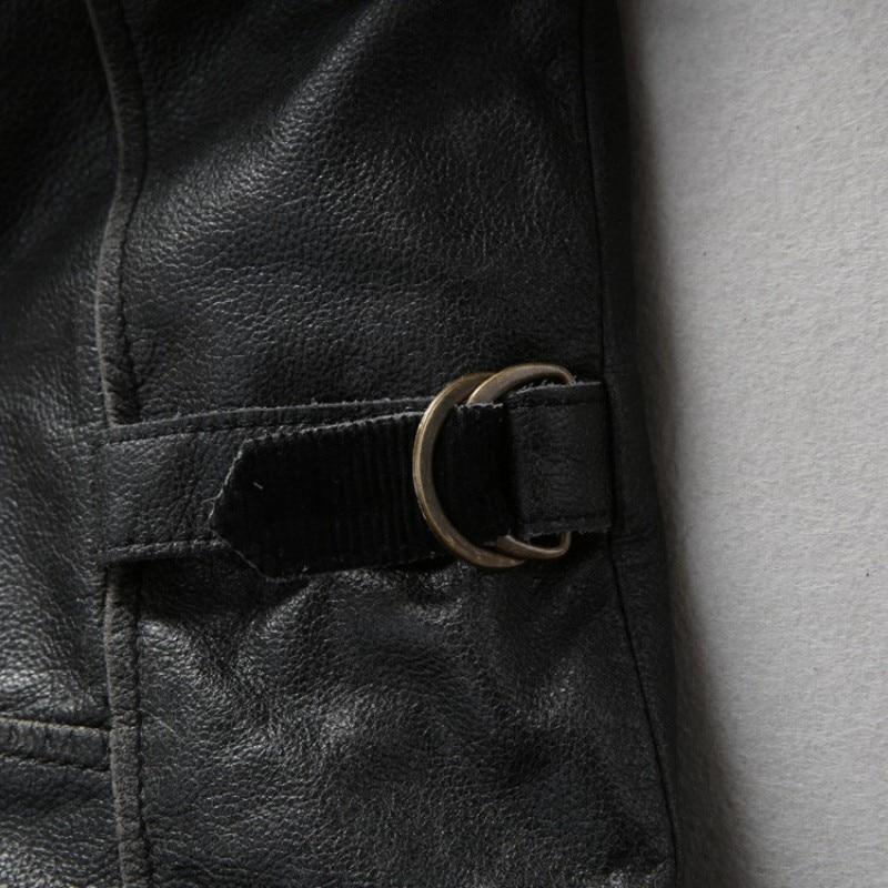 Novo Avirex Fly Prava usnjena jakna David Backham Style Obrni navzdol - Moška oblačila - Fotografija 4