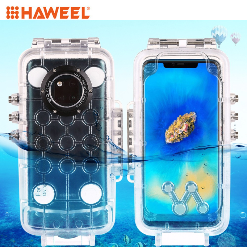 HAWEEL 40m 130ft Waterproof Diving Housing Photo Video Taking Underwater Cover Case for Huawei Mate 20