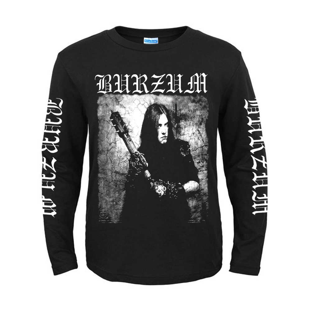 4 designs poleras Norwegen Burzum Band Rock Marke langarm-shirt fitness Hardrock schwere Dark Metall Baumwolle Druck illustration