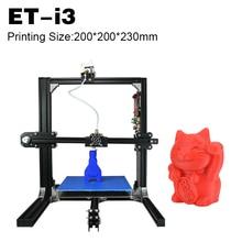 Yite 2017 Повышен Качество Высокоточный Reprap 3D Принтер Prusa i3 DIY Kit Печати Размер 200*200*230 мм
