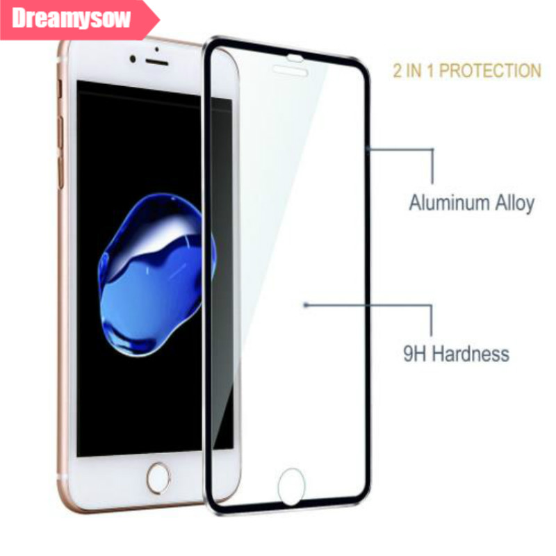 3D אלומיניום סגסוגת 9 H מלא מסך מזג זכוכית עבור iphone 6 6 S 7 8 בתוספת 5 5S SE מגן מגן סרט עבור iphone 8 8 בתוספת X