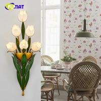FUMAT European Living Room Restaurant LED Small Wall Lamps American Metal Creative Art Bedside Sconce Lightings LED Wall Lights