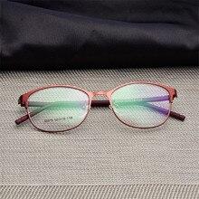 여자 전체 프레임 안경 패션 안경 슈퍼 라이트 캐주얼 광학 프레임 금속 소재 처방 안경 075