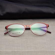 Frau Full Frame brille Mode Brillen Super Licht Casual Optische Rahmen Metall Material Rezept gläser 075