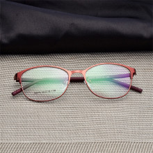 Woman Full Frame glasses Fashion Eyeglasses Super Light Casual Optical Frame Metal Material Prescription glasses 075