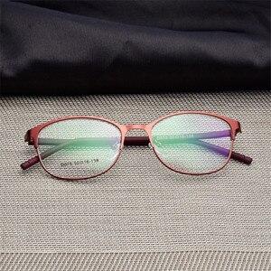 Image 1 - Woman Full Frame glasses Fashion Eyeglasses Super Light Casual Optical Frame Metal Material Prescription glasses 075