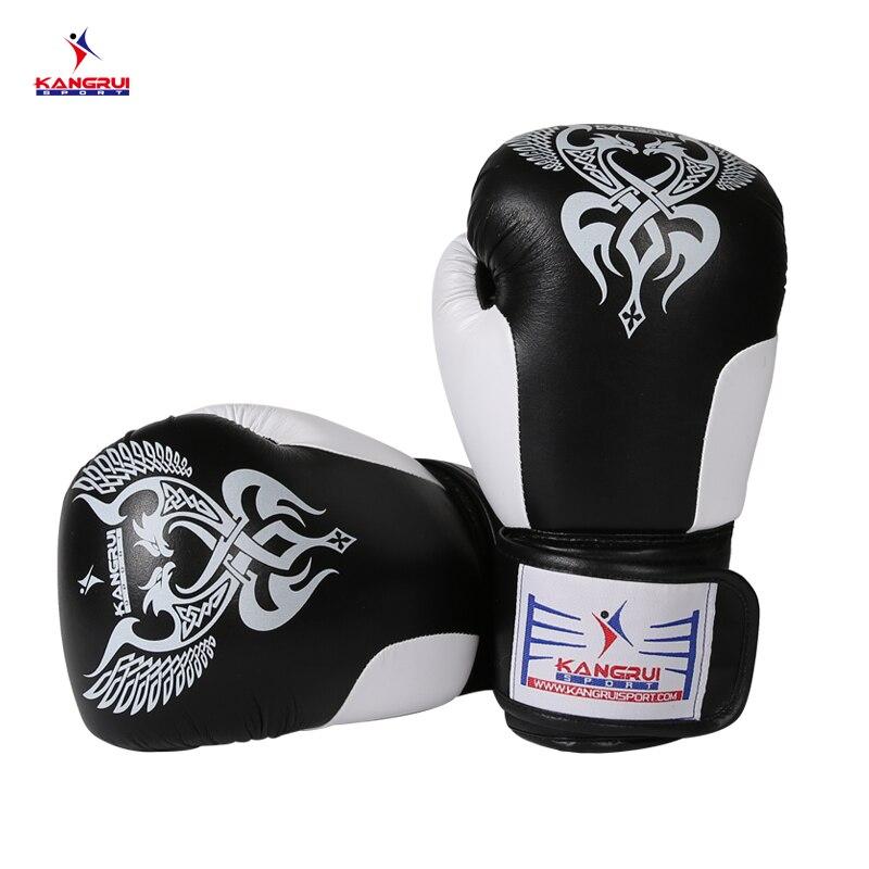 HOT!! KANG RUI KS 333-2 High wear-resisting Microfiber leather Sanda Standard competition type boxing gloves man/woman/kids rui ni weier