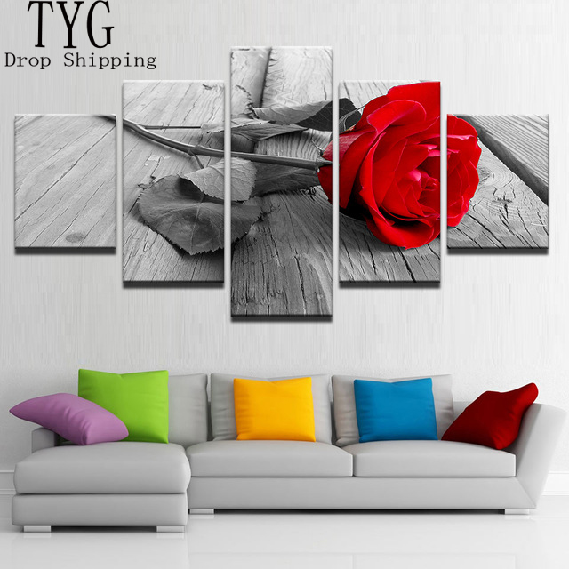 Wall Art 5 Pieces Canvas Paintings HD Prints Home Decor Framework ...