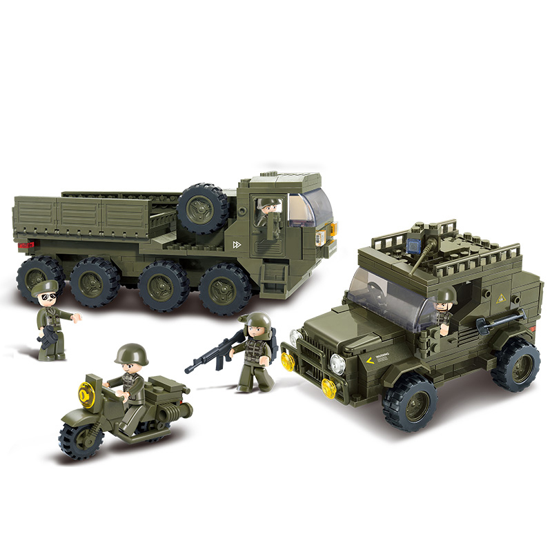 0307 455pcs Military Constructor Model Kit Blocks Compatible LEGO Bricks Toys for Boys Girls Children Modeling0307 455pcs Military Constructor Model Kit Blocks Compatible LEGO Bricks Toys for Boys Girls Children Modeling