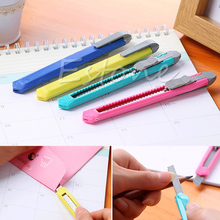2PCS Box Cutter Utility Knife Snap Off Retractable Razor Blade Knife Tool stainless steel mini utility knife cutter razor blade tool sharp snap off knife retractable