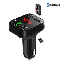 все цены на Bluetooth FM Transmitter Car Kit Handsfree Wireless LCD TF Card U Disk MP3 Player USB Charger 2.1A Car Accessories FM Modulator онлайн