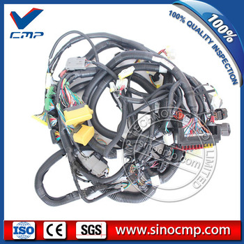 PC120-6 6D102 Internal Wiring Harness for Komatsu Excavator Wire Cable, 3 month warranty