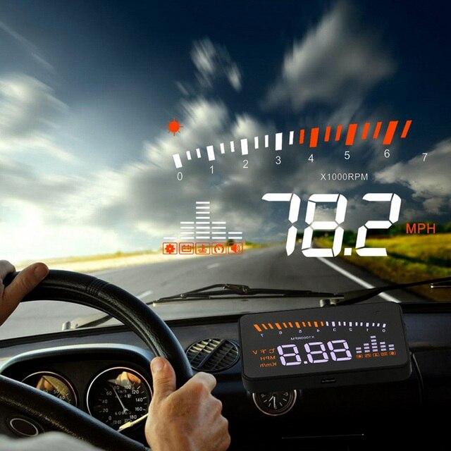 X5 Car Hud Head Up OBD 2 Display Digital Speedometer Overspeed Alarm Auto Windshield Projector OBD ii Car Electronics