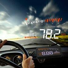 X5 자동차 Hud 헤드 OBD 2 디스플레이 디지털 속도계 과속 알람 자동 앞 유리 프로젝터 OBD ii 자동차 전자