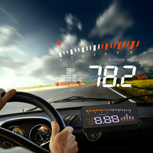 X5 רכב Hud הראש עד OBD 2 תצוגה דיגיטלית מד מהירות Overspeed אזעקה אוטומטי שמשה קדמית מקרן OBD ii רכב אלקטרוניקה