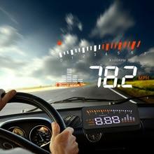 X5 araba Hud Head Up OBD 2 ekran dijital kilometre aşırı hız alarmı otomatik cam projektör OBD ii araç elektroniği