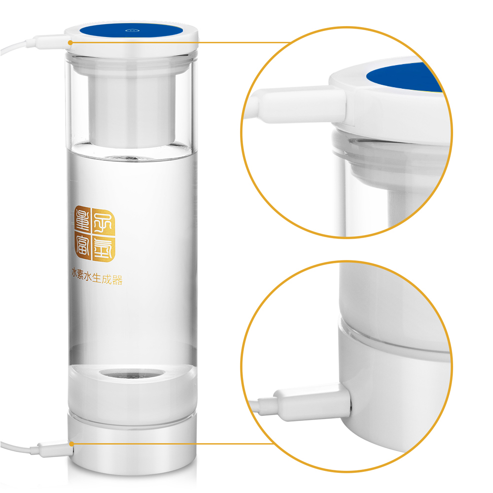 IHOOOH factory Anti-Aging Hydrogen Rich Water cup Generator 0 USB Rechargeable and MRETOH Helping treat chronic diseases