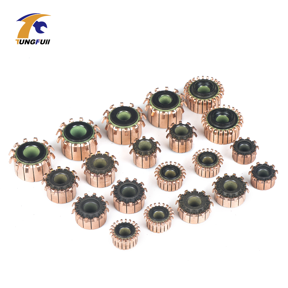 Copper Bars Alternator Electric Motor Commutator Copper Tone , Black Brass Motor Commutator For Mini Drill  On Armature Commutat