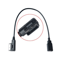 Audio USB Adaptor Cable For Audi A4 A6 Q5 Q7 AMI Connector Suitable For Audi Vehicles