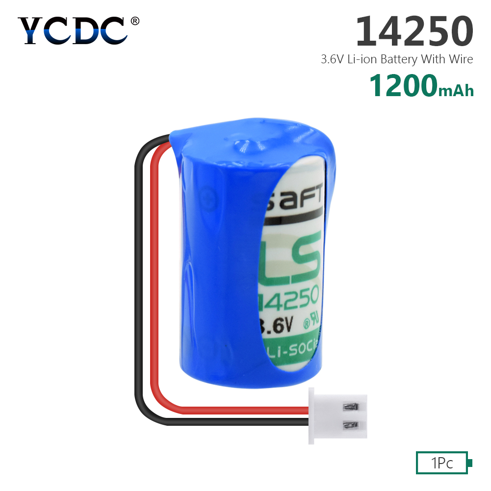 Nueva batería Original 14250 1/2AA para TADIRAN TL2150 TL-2150 1/2AA ER14250 14250 3,6 V PLC batería de litio con conectores enchufes 3S 20A 18650 Li-ion cargador de batería de litio Placa de protección 10,8 V 11,1 V 12V 12,6 V eléctrico 10A Lipo BMS PCB módulo PCM