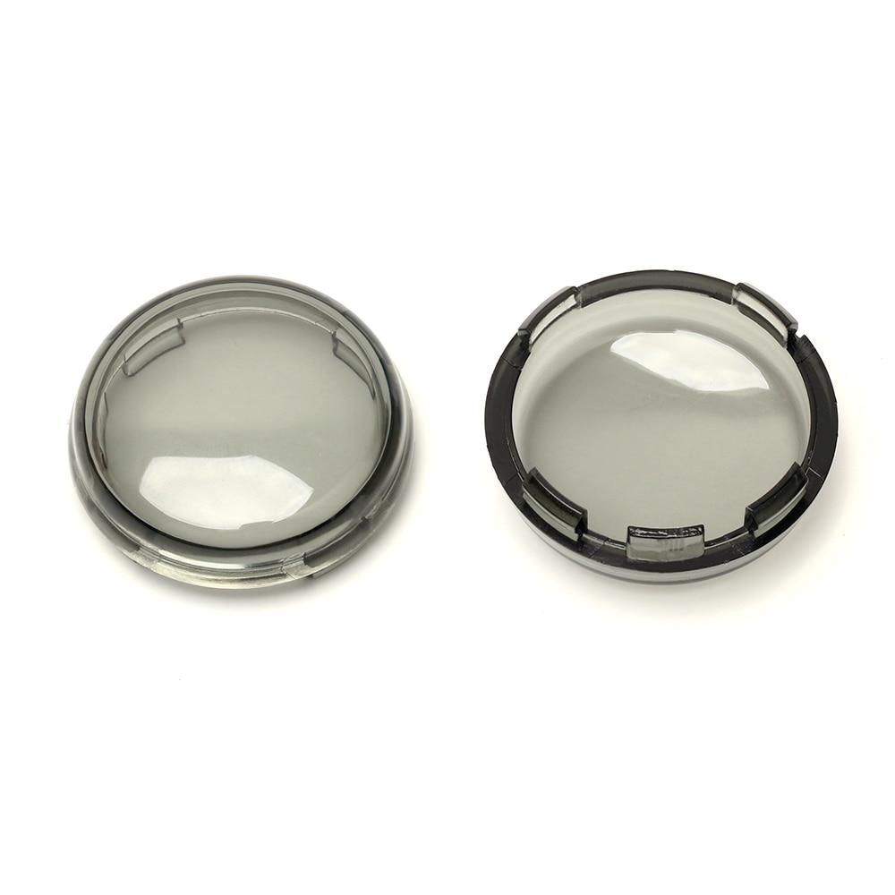 2 pcs/pair Smoked Turn Signal Lens Covers Lenses for Harley Davidson 1156 / 1157 LED light