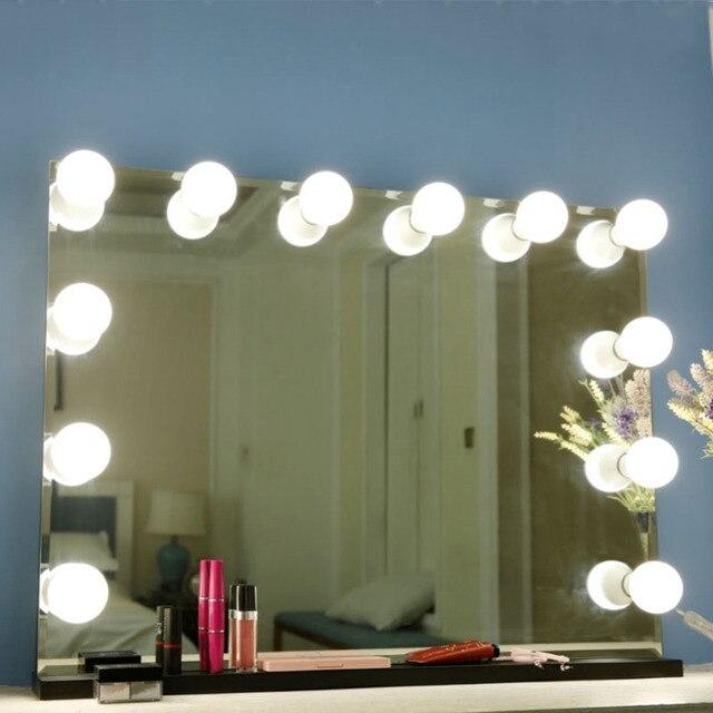 10 لمبات مرآة لوضع مساحيق التجميل الغرور LED مصابيح كهربائية كيت USB ميناء الشحن التجميل لمبة قابل للتعديل المكياج مرايا سطوع أضواء 1