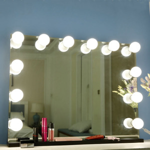 Image 2 - 10 Bulbs Makeup Mirror With Led Light Vanity Mirror USB Charging Port Cosmetic Bulb Adjustable Make up Mirrors Brightness lights