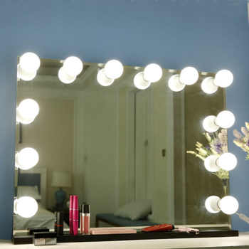10 Bulbs Makeup Mirror With Led Light Vanity Mirror USB Charging Port Cosmetic Bulb Adjustable Make up Mirrors Brightness lights