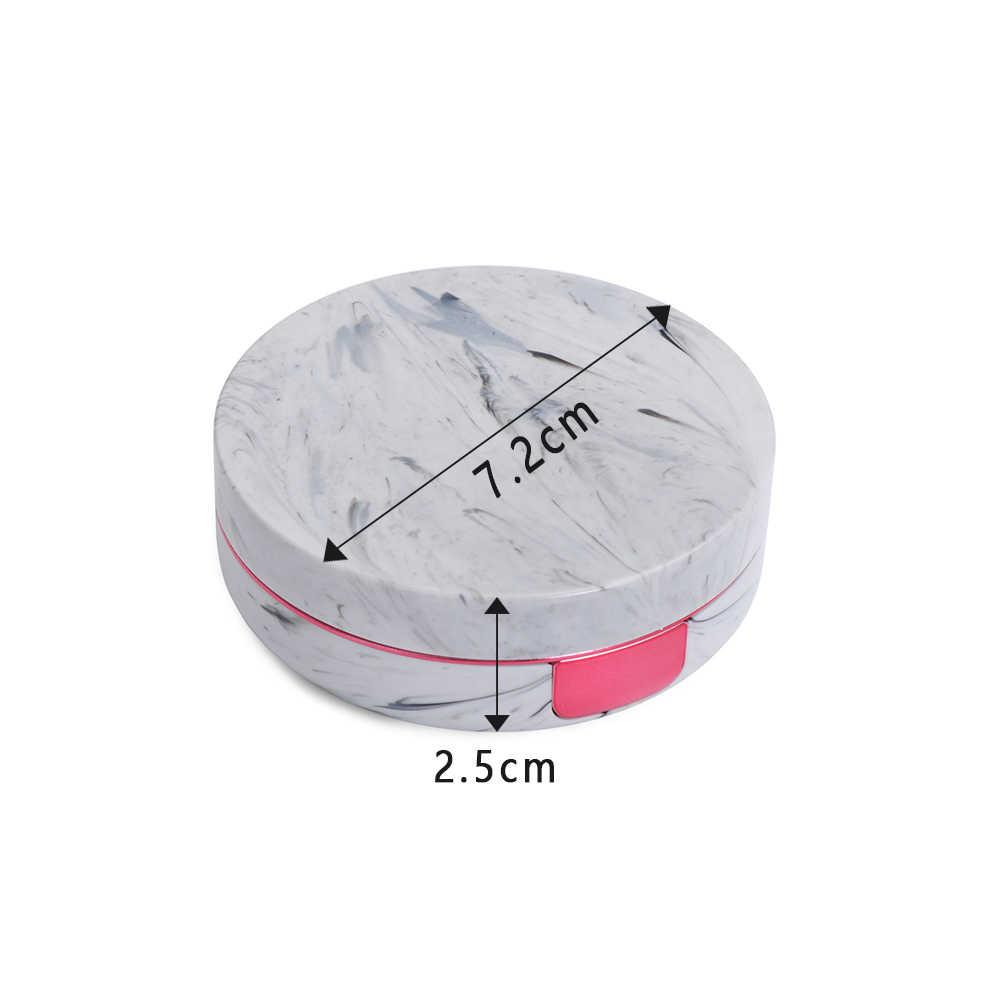 1 Uds Unisex raya de mármol lente de contacto Mini plástico colorido reflectante viaje titular contenedor almacenamiento caja de remojo