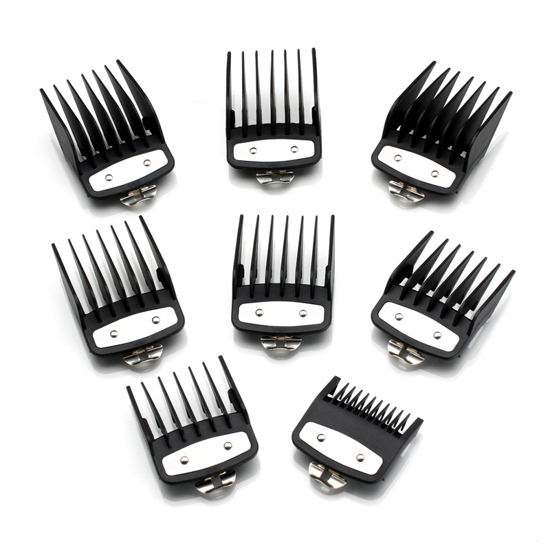 Image 3 - 8 sizes guide comb sets with a box extra 1.5/4.5 mm clipper cutting tool kit  hair clipper limited combs with metal-in Hair Trimmers from Home Appliances