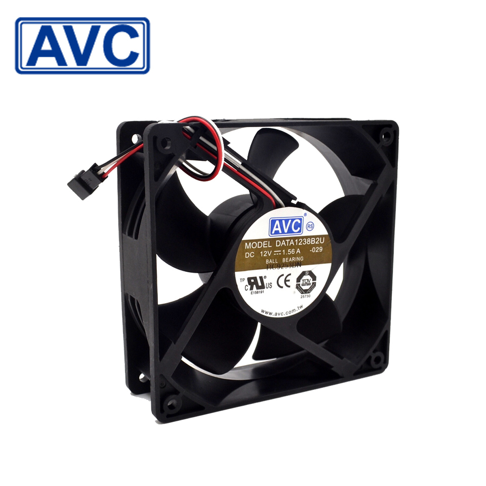 Free shipping original AVC New original 12038 DC12V 1.56A DATA1238B2U large air cooling fan high quality 48v 1 0a ffb1348ehe roo 12038 large air flow frequency converter cooling fan delta