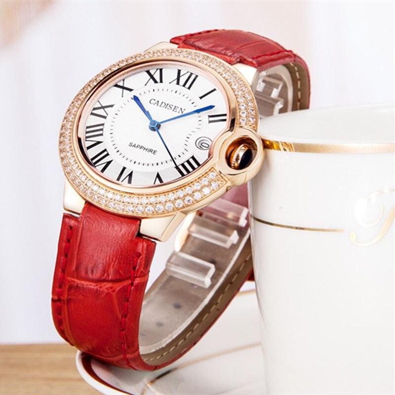 CADISEN Top luksusa zīmolu sievietes pulkstenis kvarca pulkstenis - Sieviešu pulksteņi - Foto 3