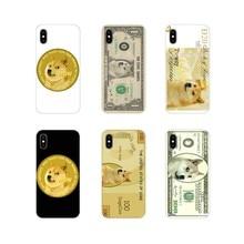 TPU Transparente Caso Saco Para Huawei Nova 2 3 3i 2i Y6 Y7 Y9 Prime Pro GR3 GR5 2017 2018 2019 Y5II Y6II Doge Meme do Dólar Mone Arte