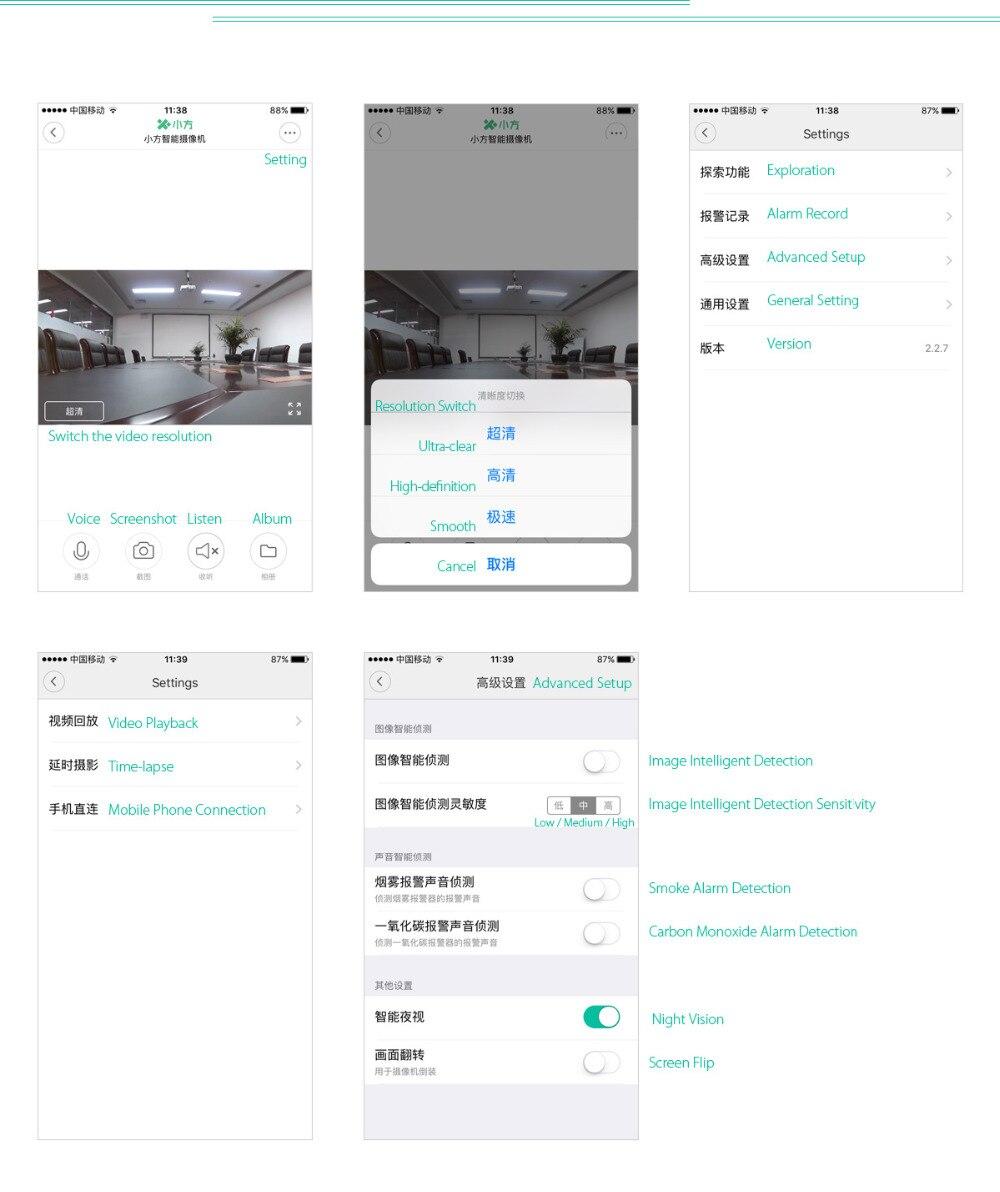 Original Xiaomi Xiaofang 1080P Mijia Cam Portable Camcorder Night Vision 8X Digital Zoom WIFI App Control For Home Security 6
