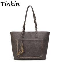 Vintage Tassel Women Shoulder Bag cheap Handbags 963200 Shoulder Bags Shoulder Handbags Interior Compartment Interior Zipper Pocket Soft TINKIN Linen Versatile