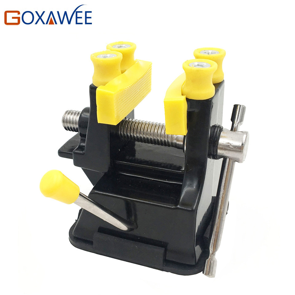 GOXAWEE Mini Table Vice Bench Vise Vice Bench Vise for DIY Jewelries Craft Mould Fixed Repair Tool For Dremel Accessories  mini table vice aluminium alloy bench vise universal machine mini fixed repair tool widely used for diy craft clamp vise