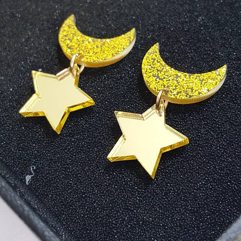 Fashion and Personality The stars And  Moon Pendant Earrings Sailor LUNA Earring For Women /Girl